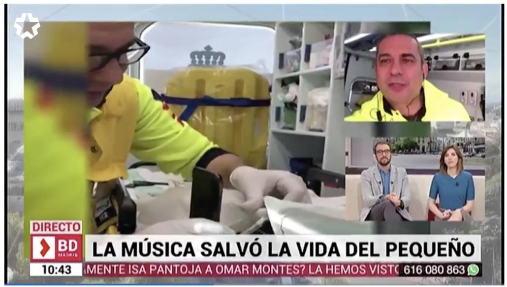 La música salvó la vida del pequeño