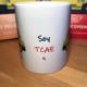 Taza blanca Keko y Keka - Soy TCAE