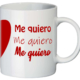 Lateral taza corazón Me quiero