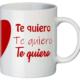 Lateral taza corazón Te quiero
