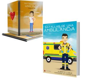 Libro Batallas de una ambulancia 1 + Cuaderno Keka civil
