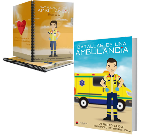Libro Batallas de una ambulancia 1 + Cuaderno Keka uniforme