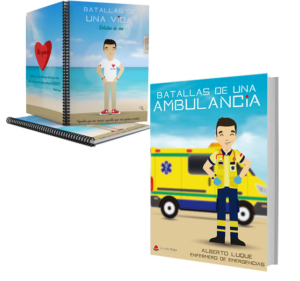 Libro Batallas de una ambulancia 1 + Cuaderno Keko civil