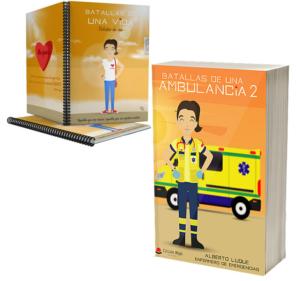 Libro Batallas de una ambulancia 2 + Cuaderno Keka civil