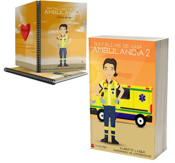 Libro Batallas de una ambulancia 2 + Cuaderno Keka uniforme