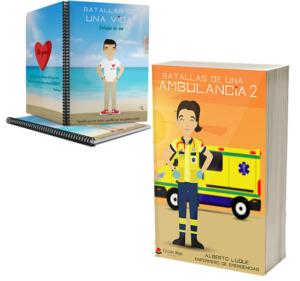 Libro Batallas de una ambulancia 2 + Cuaderno Keko civil
