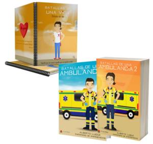 Libros Batallas de una ambulancia 1 y 2 + Cuaderno Keka civil
