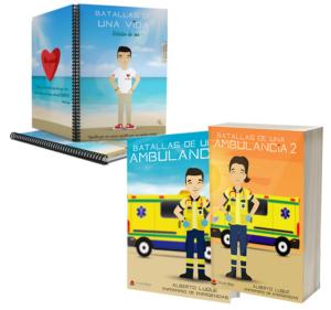 Libros Batallas de una ambulancia 1 y 2 + Cuaderno Keko civil