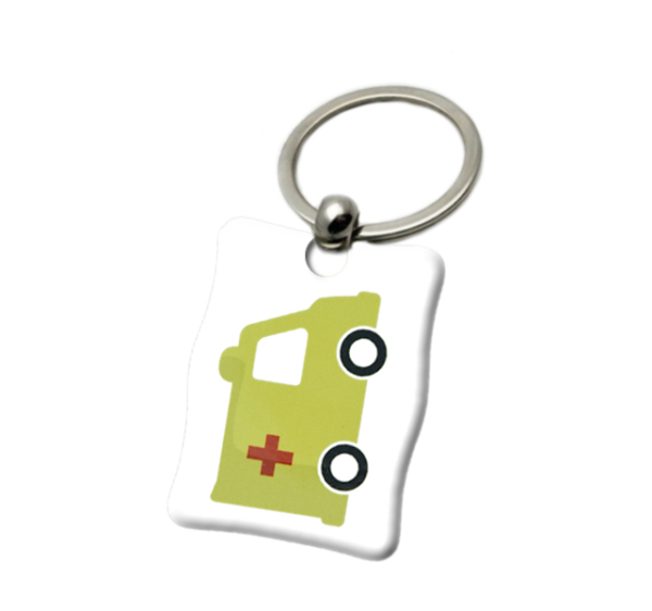 Llavero cuadrado ambulancia