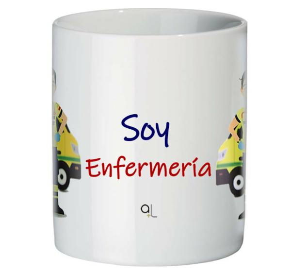 Frontal taza Soy Enfermería