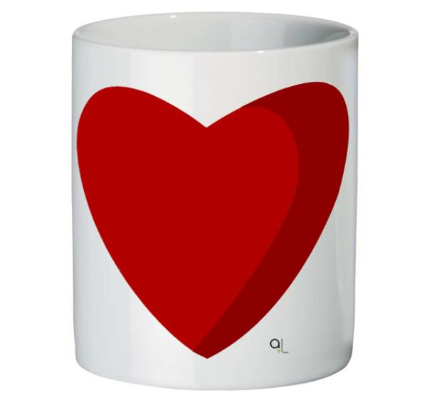 Frontal taza corazón