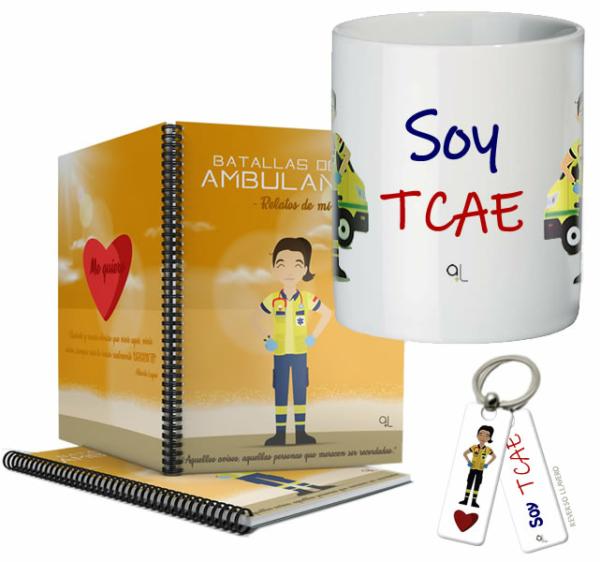 Cuaderno Keka uniforme + Llavero Keka TCA + Taza TCA
