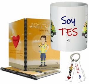 Cuaderno Keka uniforme + Llavero Keka TES + Taza TES