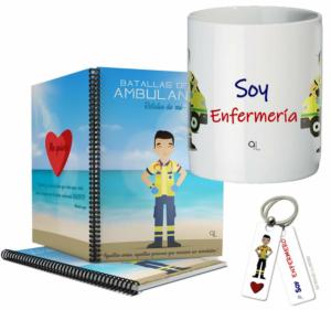 Cuaderno Keko uniforme + Llavero Keko ENFERMERO + Taza ENFERMERO