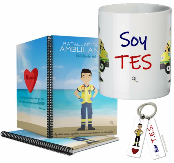 Cuaderno Keko uniforme + Llavero Keko TES + Taza TES