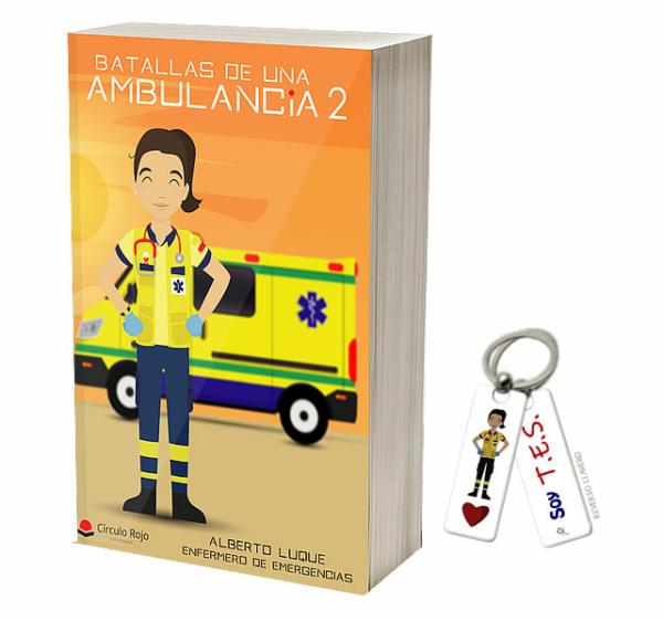 Libros Batallas de una ambulancia 2+ Llavero Keka TES