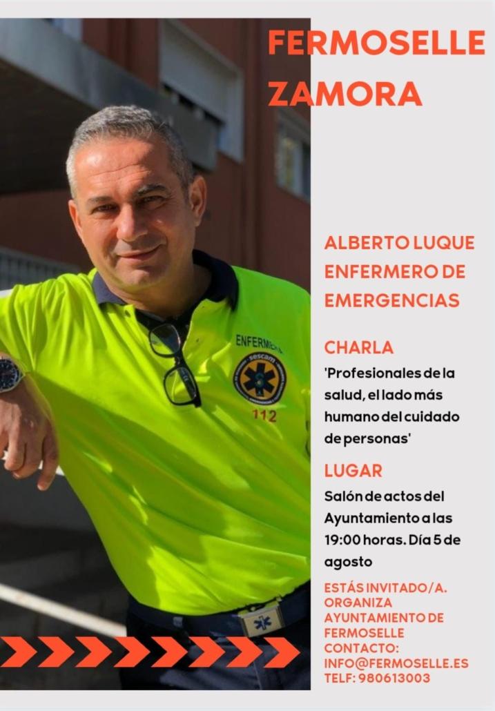 Conferencia en Lubián (Zamora) en día 04/08/2021 'Profesionales de la salud, el lado más humano del cuidado de personas'